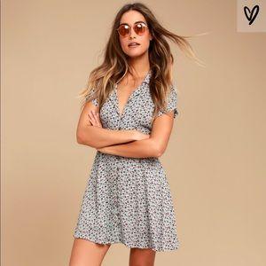 Lulu's Just Like Honey Skater Dress